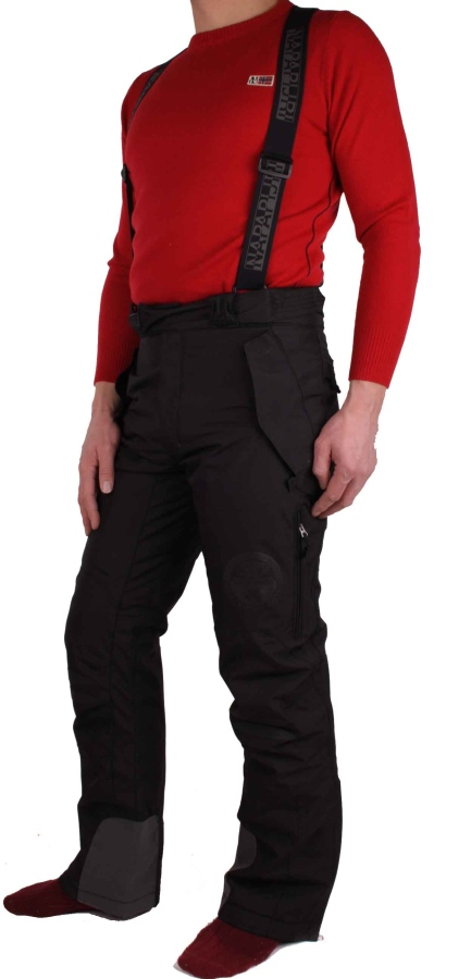 1b71f9fab3c ... Neige de ski Napapijri masculine pantalon pantalon noir d embarquement    10 000 mmH 2 ...