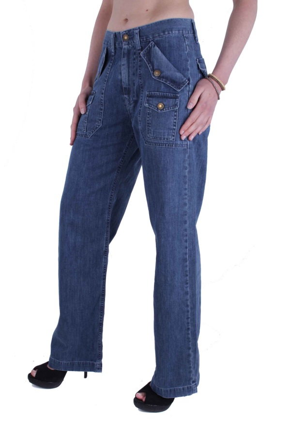 indian rags damen jeans hose baggy next blau w28 l32 ebay. Black Bedroom Furniture Sets. Home Design Ideas