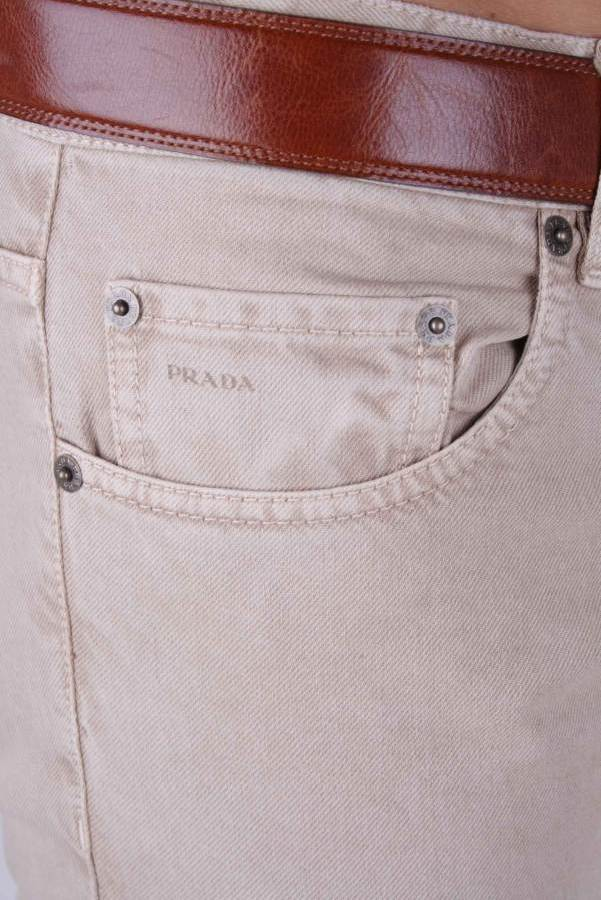 prada herren hose jeans beige gr w29 l34 40 ebay. Black Bedroom Furniture Sets. Home Design Ideas