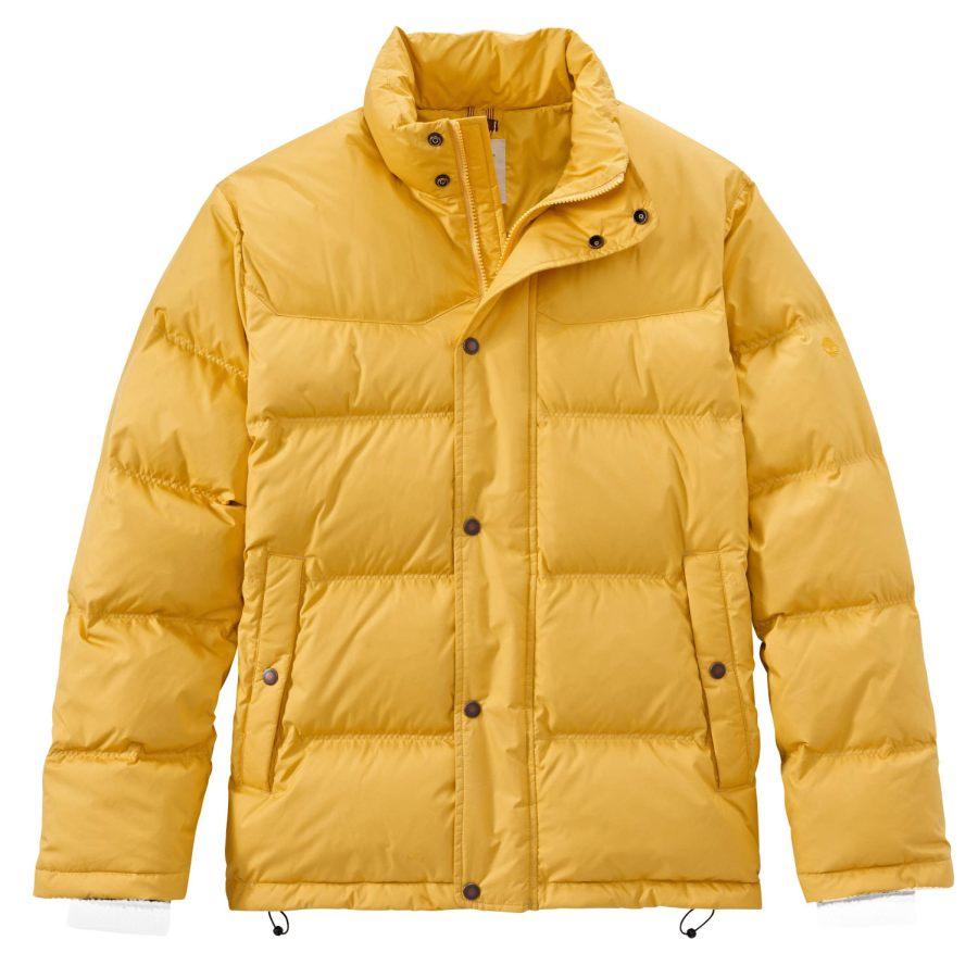 Timberland Men's Winter Jacket GOOSE EYE Down Yellow Size
