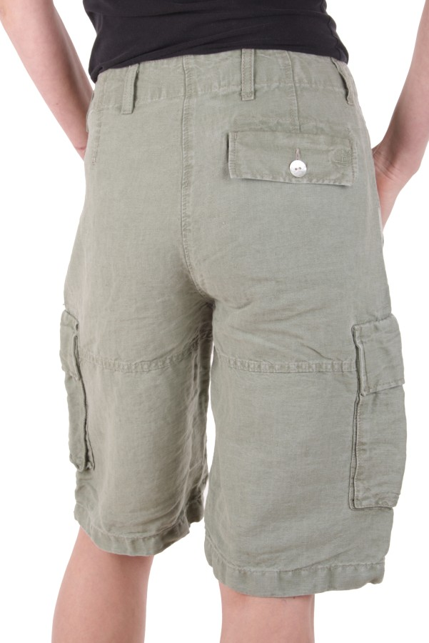 timberland damen leinen bermuda cargo shorts khaki gr 38. Black Bedroom Furniture Sets. Home Design Ideas