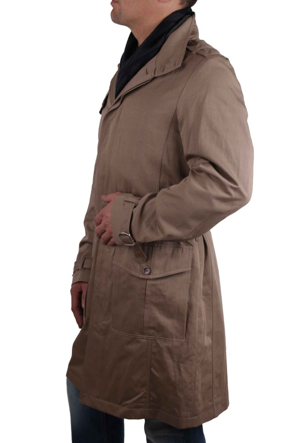 versace herren mantel trenchcoat beige gr 50 52 2 ebay. Black Bedroom Furniture Sets. Home Design Ideas